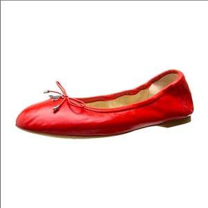 Sam Edelman Felicia Ballet Flats Red Leather Sz 5